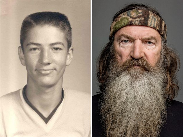 Left: This young boy grew up to become Phil Robertson: Duck Commander.