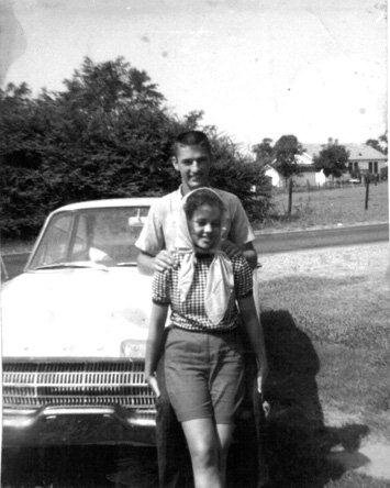 of Phil and Kay from their high school days. How cute are these young