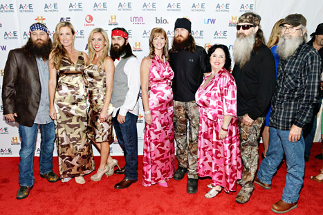 The cast of Duck Dynasty cleaned up for the A&E Upfronts on Wednesday