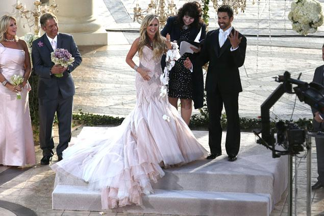 Gretchen Rossi (yellow dress) was among the guests with boyfriend