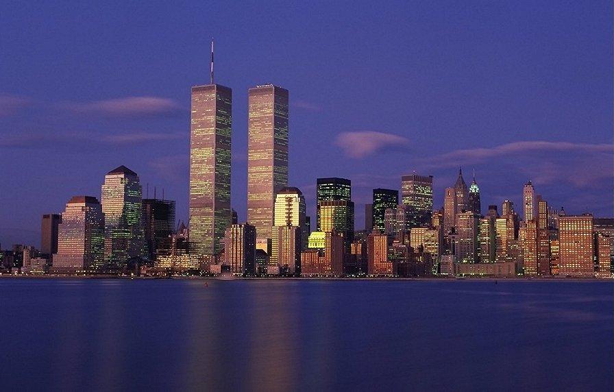 Twin Towers NY-night