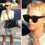 Pamela Anderson Cuts Off Her Hair, Cute!