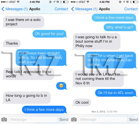 Kenya Moore And Apollo Text Messages does apollo nid...