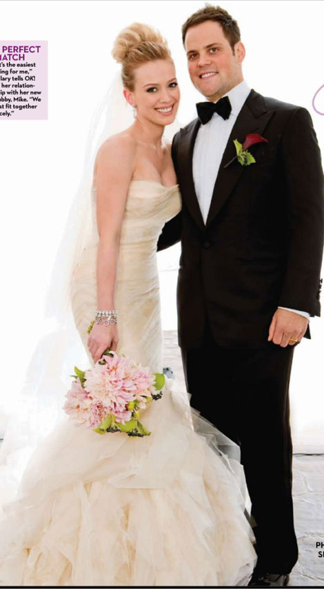 Mike Comrie and Hilary Duff got married