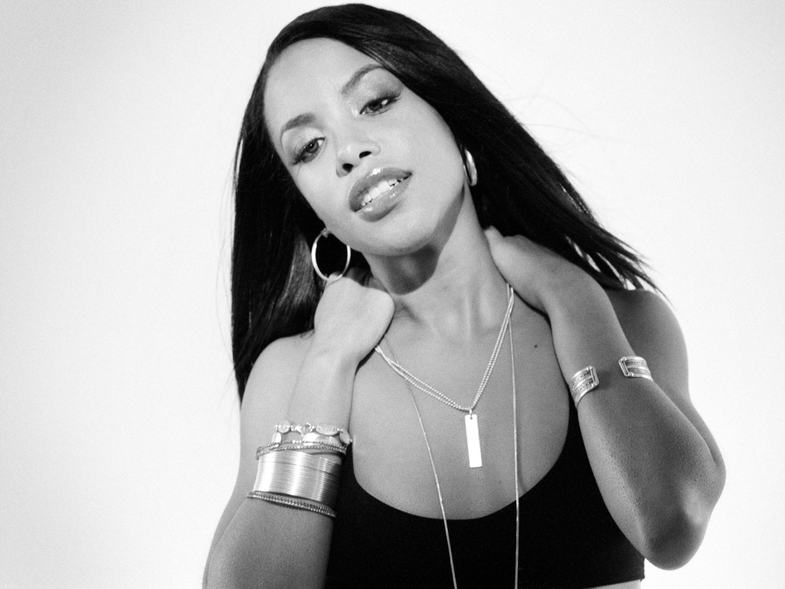 ca. 2001 - Aaliyah --- Hype Williams/Corbis Outline