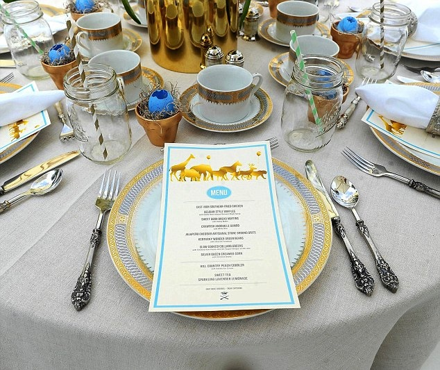 ciara baby shower table menu