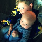 KJ Biermann Holds His Baby Brother Kane