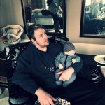 Kroy Biermann & Baby Kane Watching Cartoons