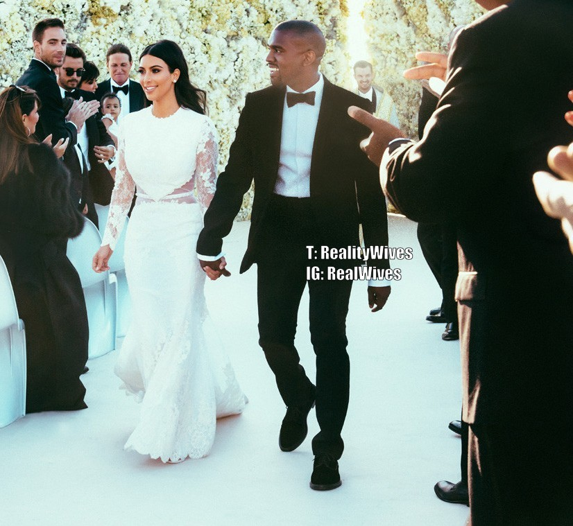 Kim Kardashian Wedding Kanye: Kim Kardashian & Kanye West's First Wedding Pictures