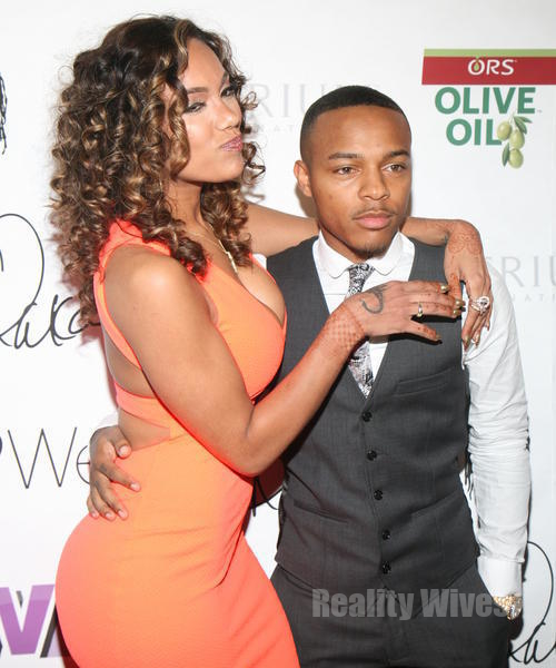 Shad Moss Wife Erica Mena-shad Moss-bow