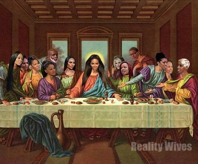 Kenya Moore Posts Last Supper Photo Of Rhoa Stars With