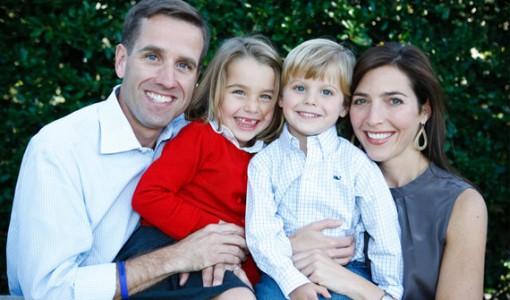 Beau with daughter Natalie, son Hunter & wife Hallie Biden