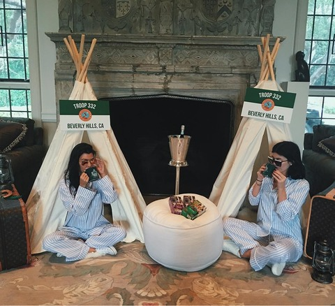 photos kim kardashian west 39 s girl scouts themed baby shower