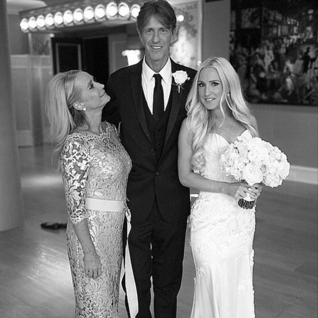 Kim Richards & Monty Brinson on their daughter Brooks's wedding day
