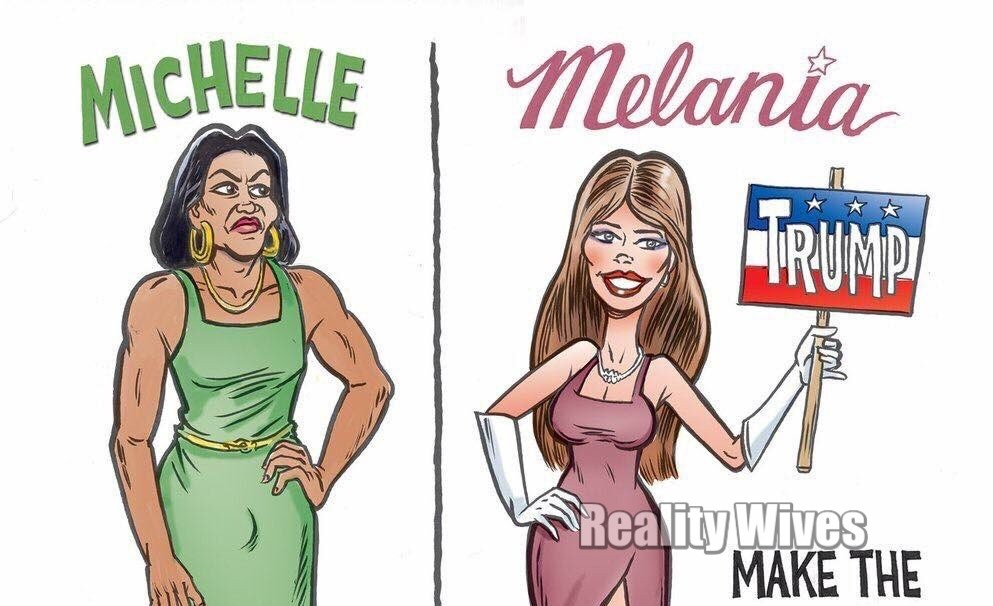 Cartoon Compares A 'Manly' Michelle Obama To 'Lady ...