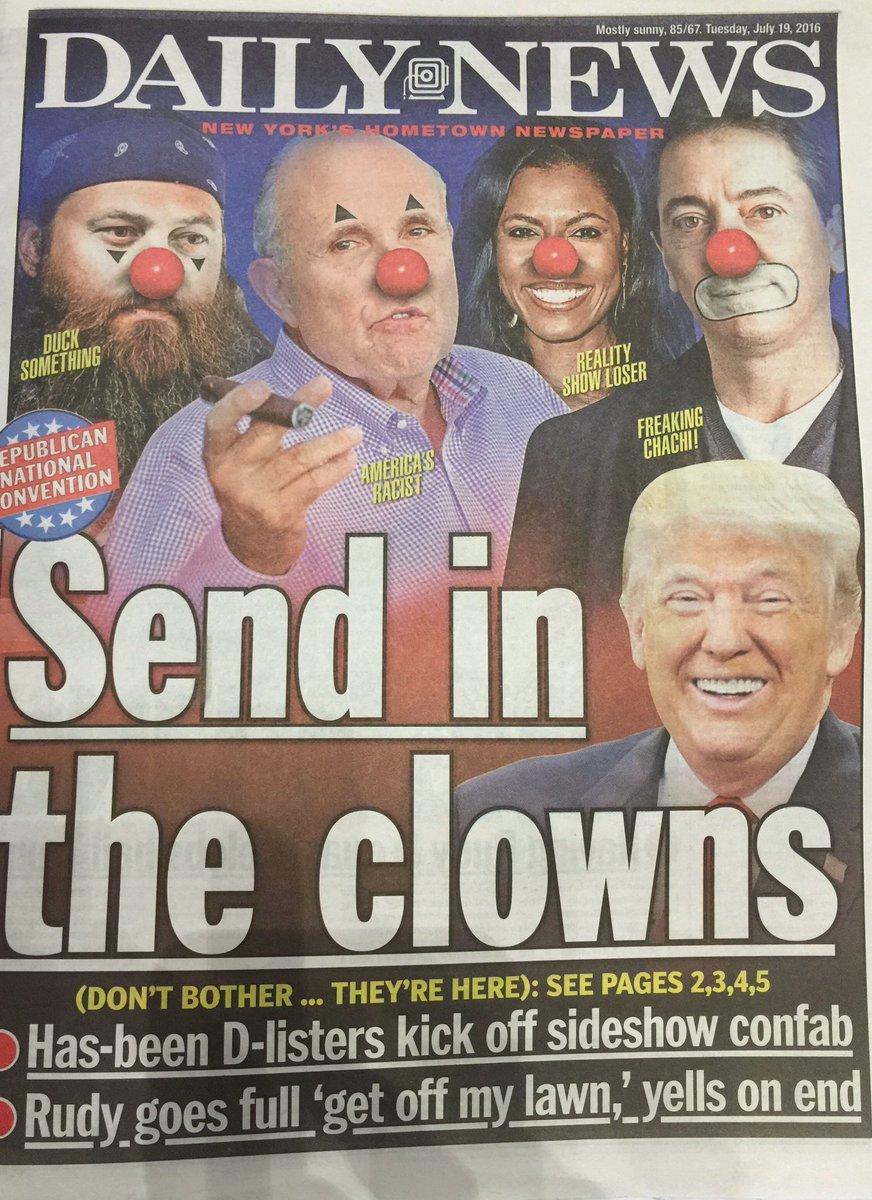 Daily News-Trump Clowns