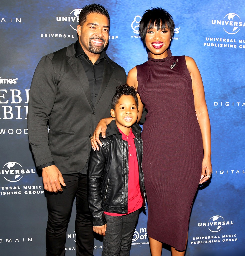 David Otunga & Jennifer Hudson with their son David Daniel Jr. at the 2016 March Of Dimes Celebration Of Babies.