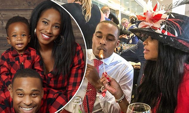 Aundre & Taylor with their son during happier times; Aundre with Sandra 'Pepa' Denton