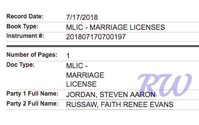 Stevie J-Faith Evans-marriage license