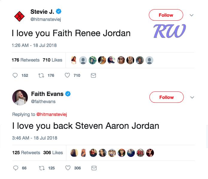 Stevie J-Faith Evans-tweets