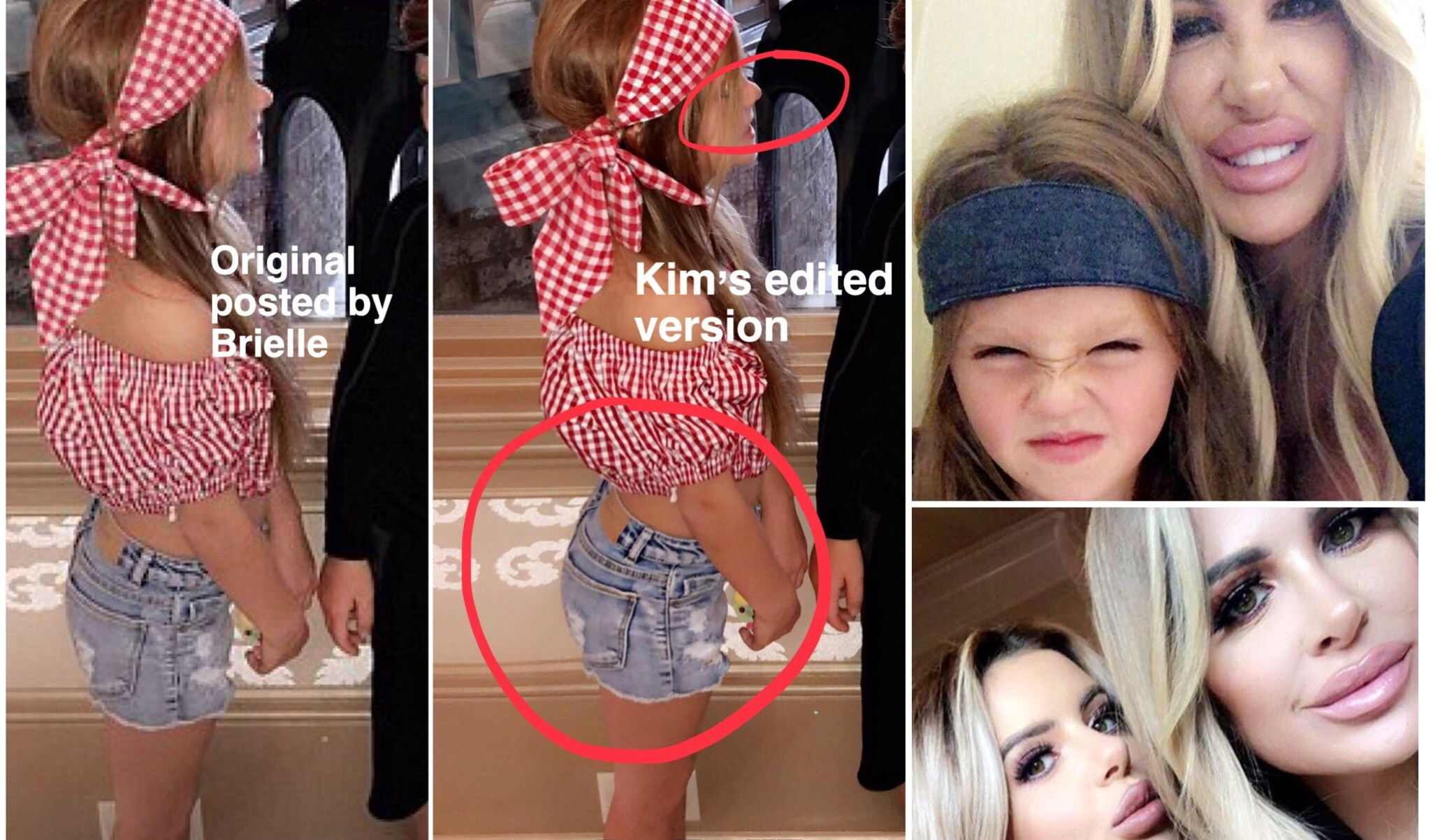 Kim Zolciak Photoshops Her 4 Year Old Daughters Body Amp Face