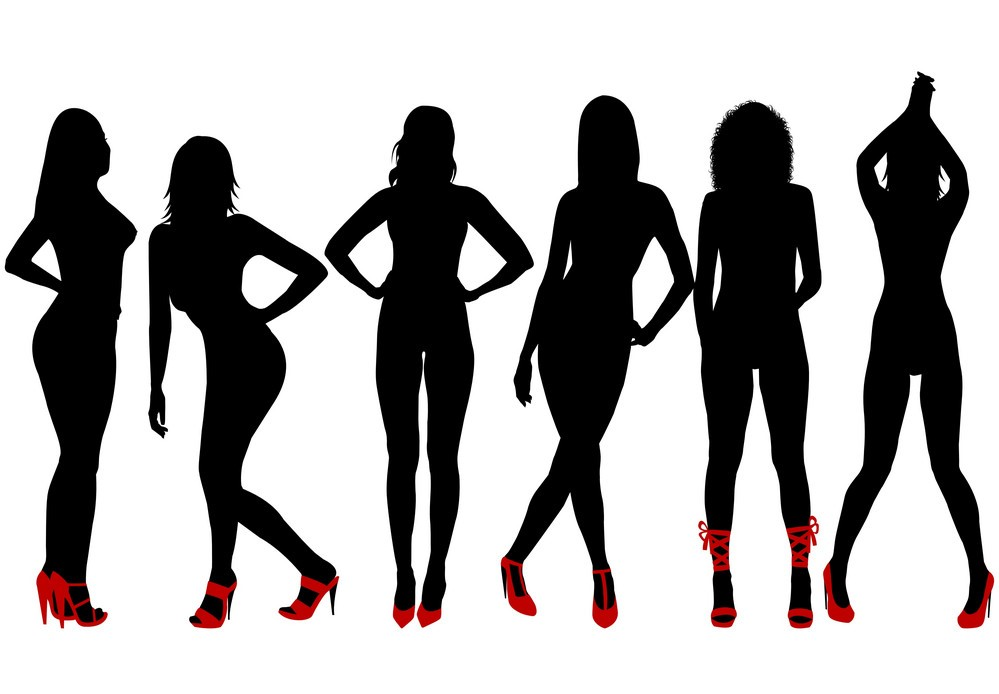 silhouettes-of-sexy-women-red-shoes