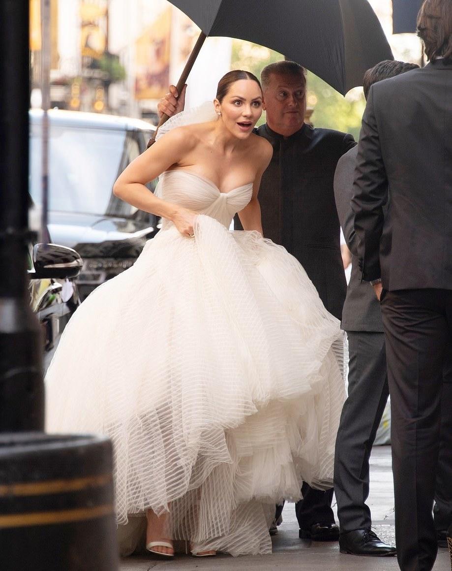 Katharine McPhee wdding dress