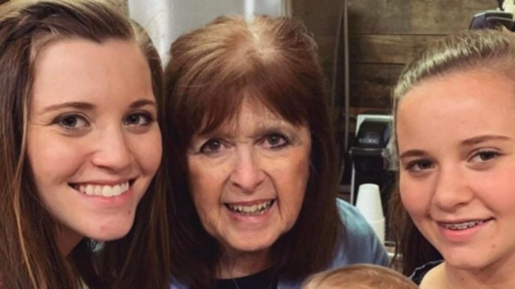 Joy Anna Duggar with Grandma Mary Duggar.