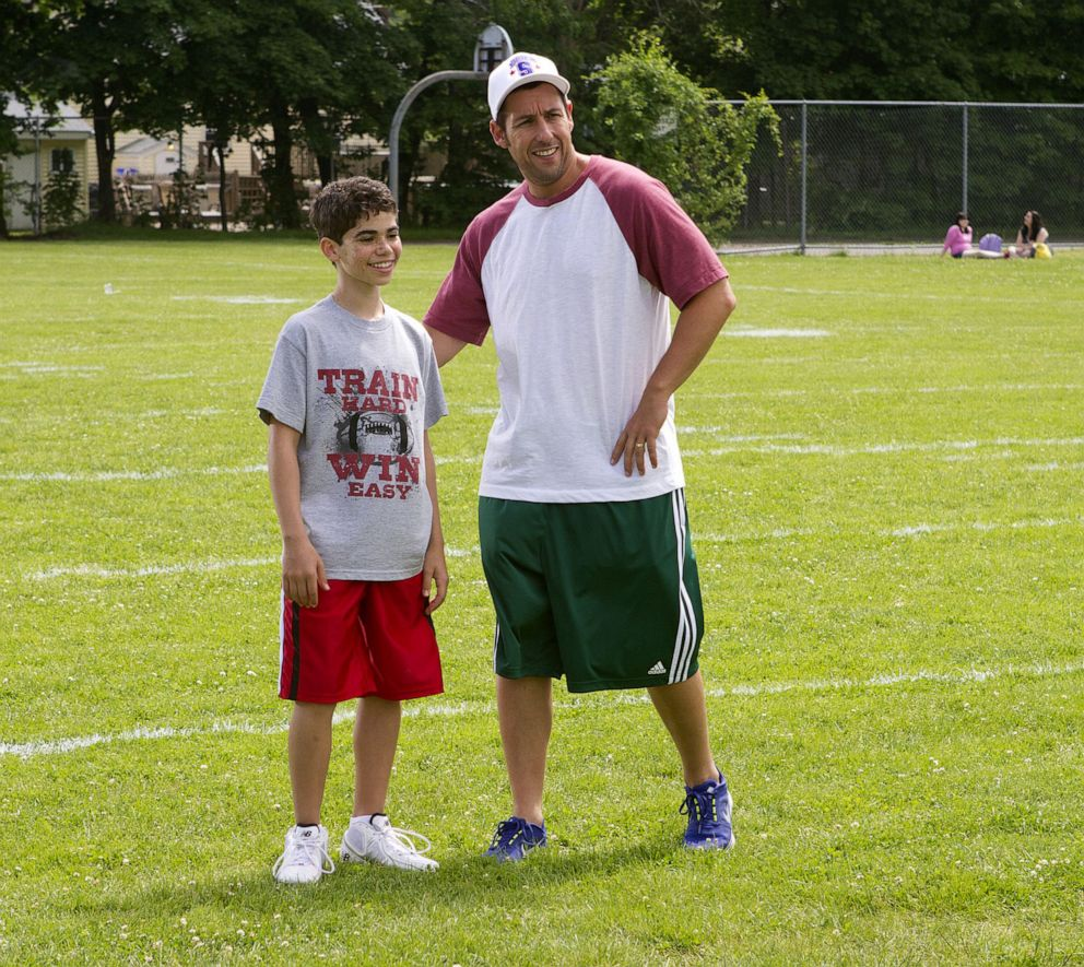 "Cameron Boyce appears in a scene in ""Grown Ups"" with Adam Sandler."