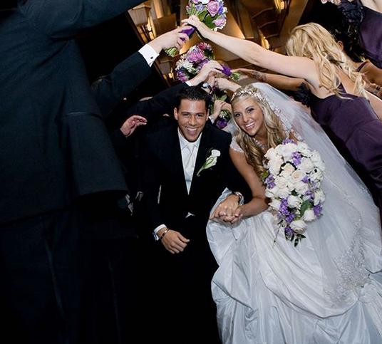 Matt & Gina on their wedding day in 2010.