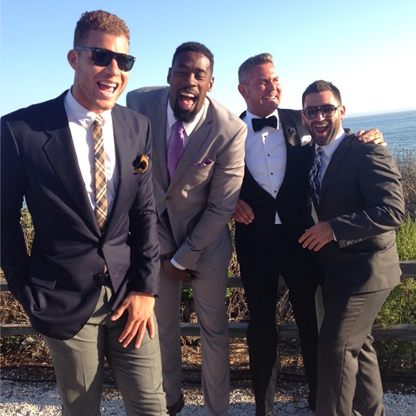 barnes wedding-blake griffin-friends