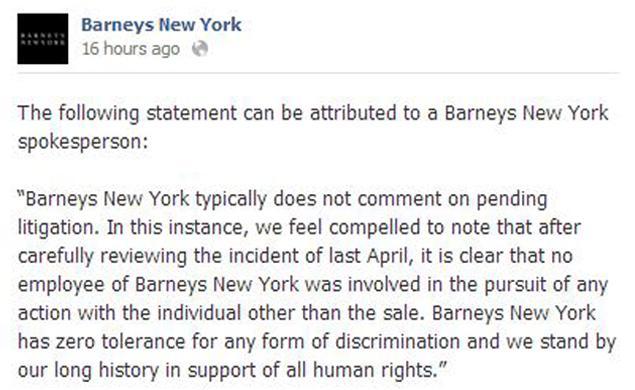 barneys-response