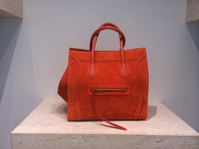 celine-phantom-orange-suede-bag