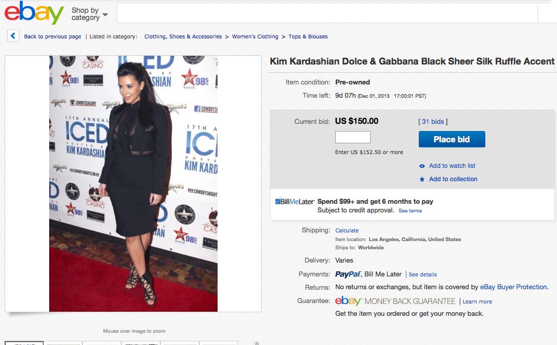 ebay kim kardashian