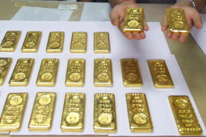 24 gold bars seized from the Netaji Subhash Chandra Bose International Airport in Calcutta