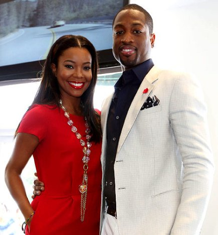 gabrielle union-dwyane-wade-red