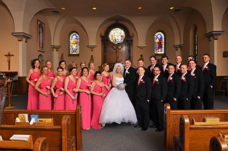 rose wedding party