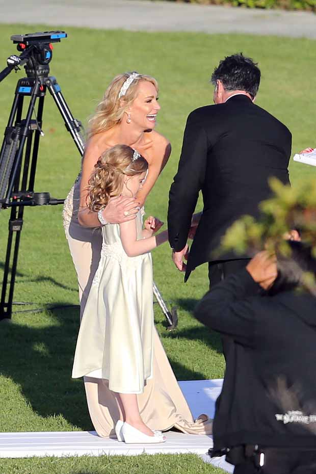 Taylor Armstrong marries John Bluher in cliff-top sunset ceremony in Pacific Palisades, Ca.