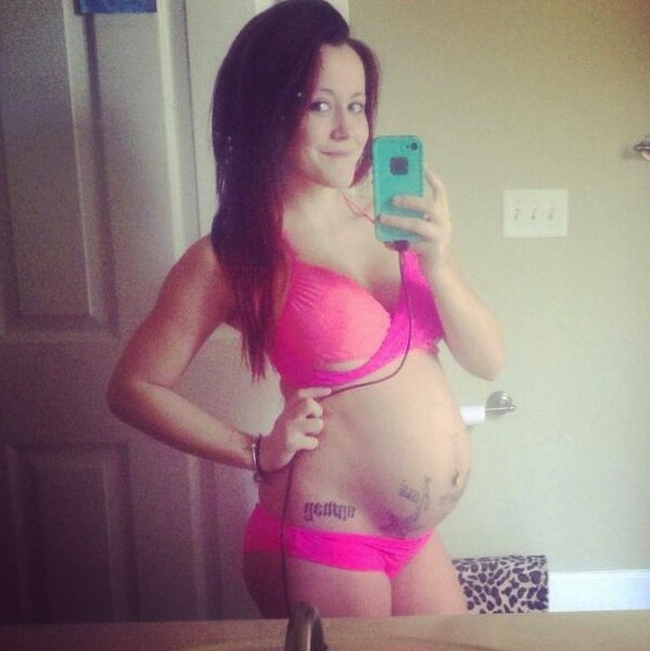 jenelle evans pregnant belly