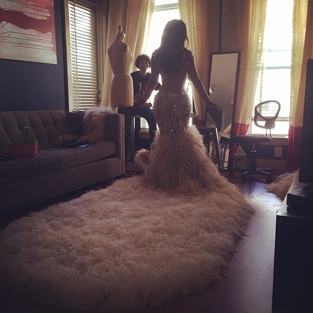 kandi burrus-wedding dress-back