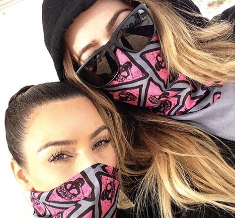 khloe and kim kardashian mud run