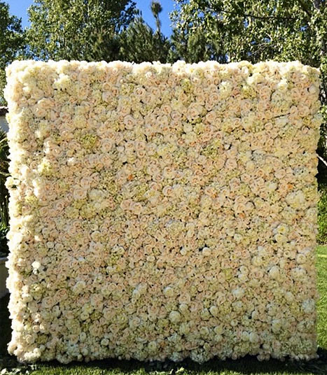 kanye west wall of flowers