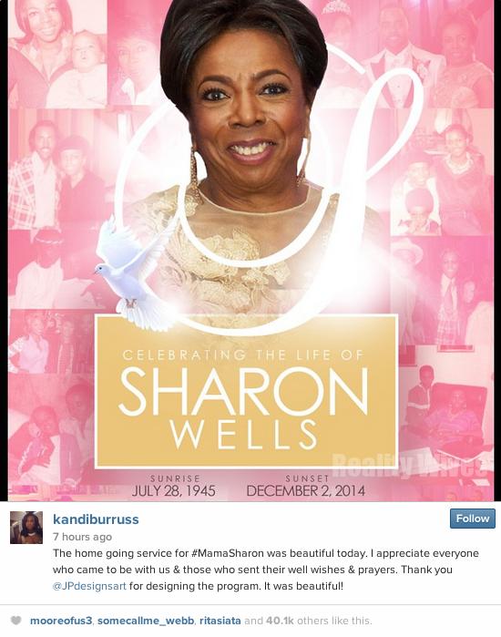 Sharon Wells-Funeral