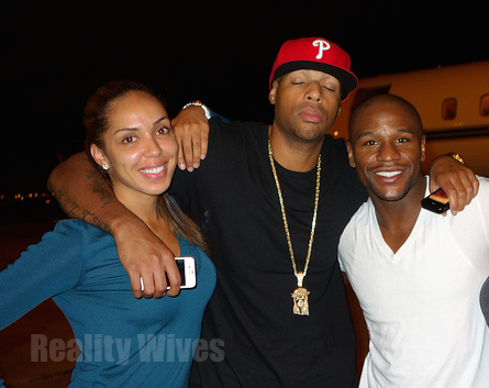 Stephanie Moseley-Earl Hayes-Floyd Mayweather-md