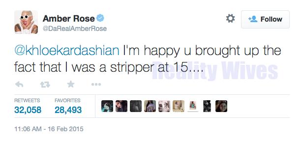 Amber Rose-tweet-khloe kardashian