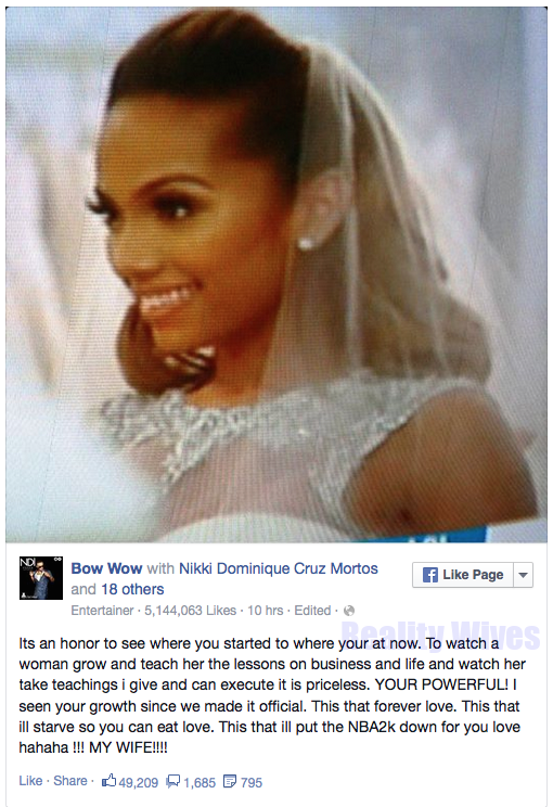 Bow Wow-Erica Mena-fb