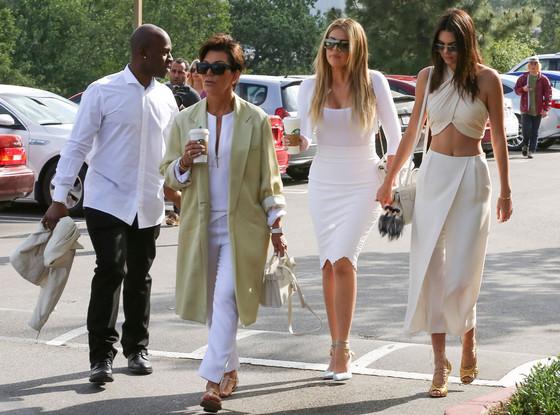 Corey Gamble-Kris Jenner-Kourtney Kardashian-Kendall Jenner