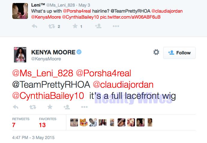 Kenya Moore-tweet-lacefront