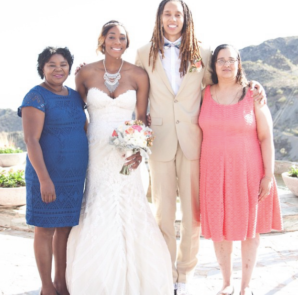 Brittney Griner-Glory Johnson-wedding