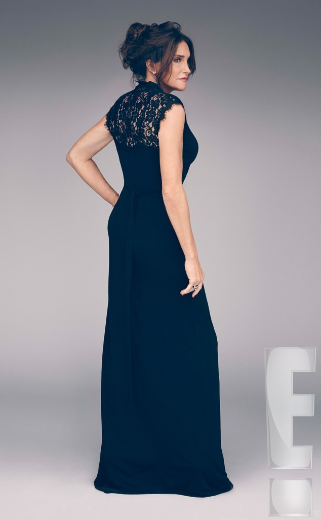Bruce Jenner-lace dress